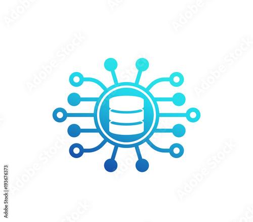 data mining vector icon on white