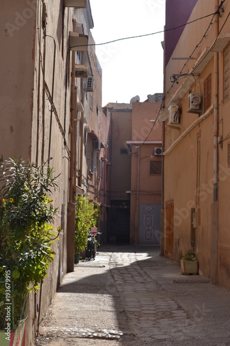 Fotobehang Smalle straatjes morocco landscape cityscape