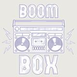 Boom box line art music design