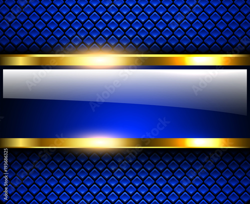 Abstract background glossy and shiny blue metallic