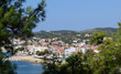 Beautiful panorama view of Limenaria town on Thassos island, Greece - 193686514