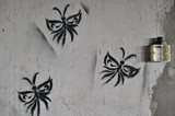 Graffiti Schmetterlinge Motten