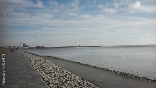 Fotobehang Noordzee Büsum Promenade