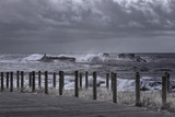 Rough sea in the coast