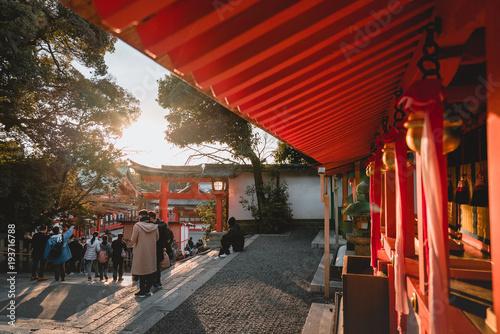 Aluminium Rood paars Fushimi Inari Shrine, shrine, Torii