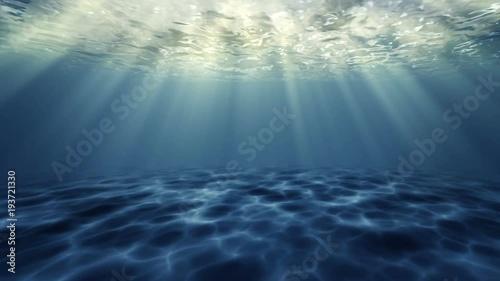 Fotobehang Koraalriffen Underwater sun light