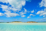 A pristine, tropical beach in the Bahamas.  Located near Norman's Cay anchorage. - 193722511