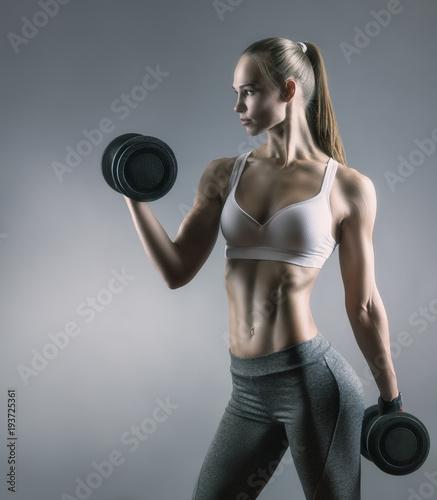 Fototapeta Fitness girl