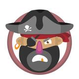 Cartoon Pirate's Head   Wall Sticker