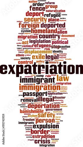 Expatriation word cloud | Buy Photos | AP Images | DetailView
