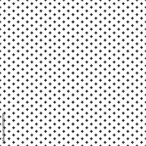 Seamless black and white Swiss Cross Shweizerkreuz pattern - 193745705