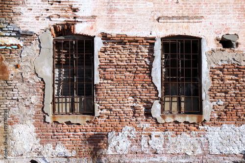 Tuinposter Baksteen muur Alte Hauswand