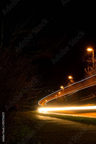 Tuinposter Nacht snelweg carlines2