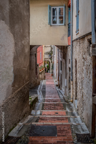 Fototapeta Attractions and architecture of the French city of Menton