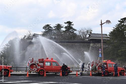 Silnik strażacki do odprowadzania wody