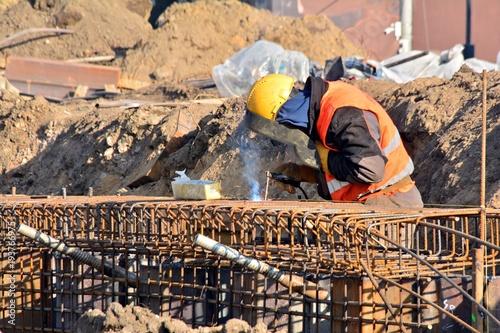 Fototapeta a construction worker