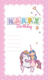 Happy Birthday Card For Little Girl Wall Sticker