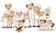 Muslim family in white costume