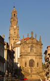 View to the street in Porto.
