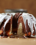 Marble up side down cake with glaze - 193775949