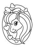 Pony coloring book, vector - 193796724