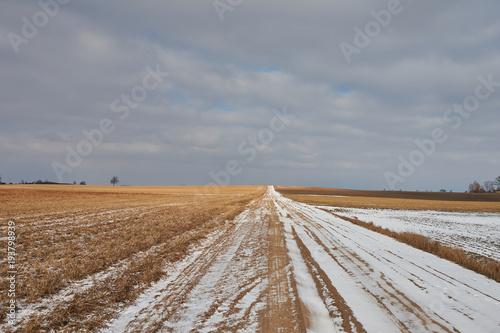 Aluminium Zomer Winter farm road