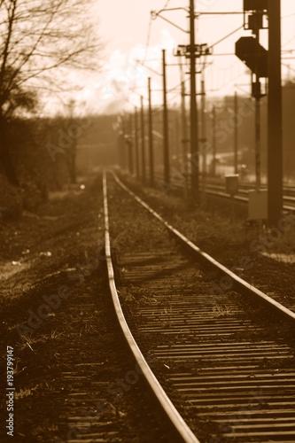 Fotobehang Spoorlijn Bahngleise