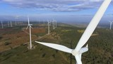 Wind turbine from aerial view. Sustainable development, environment friendly concept. - 193802565