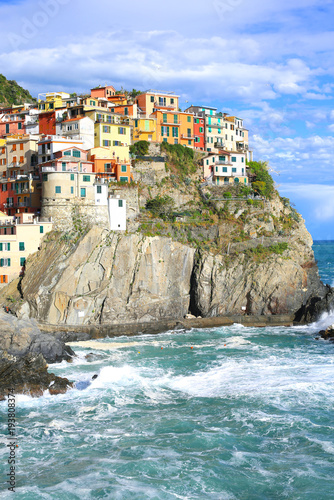 Foto op Aluminium Liguria Historic village Manarola in the Cinque Terre National Park, Liguria, Italy