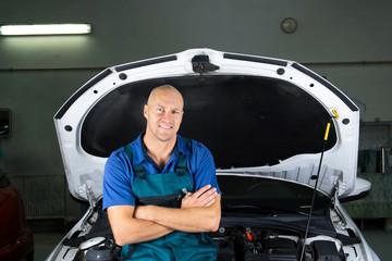 Young car service technician.
