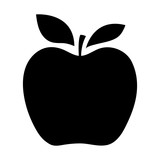 Silhouettes of an apple