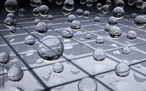 Fotobehang Abstractie Szklane kule