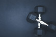 Fitness Background with Weights