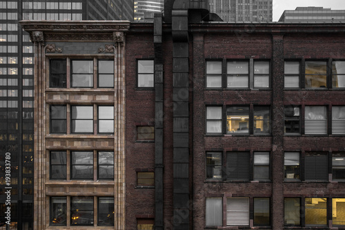 Straight on shot of a classic brick building - 193833780
