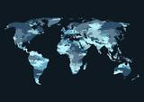 World Map Camouflage Wall Sticker