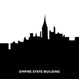 empire state building silhouette - 193836963