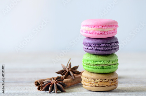 colorful stack of macaron Poster