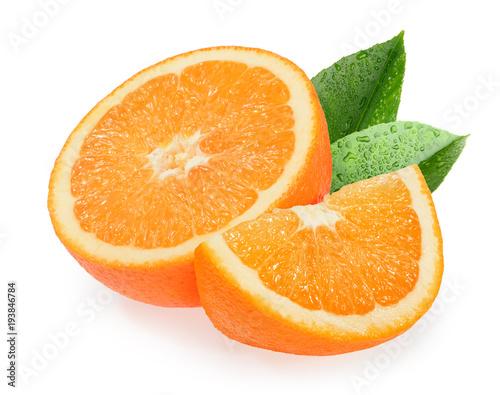 Pomarańczowe owoc odizolowywać na białym tle
