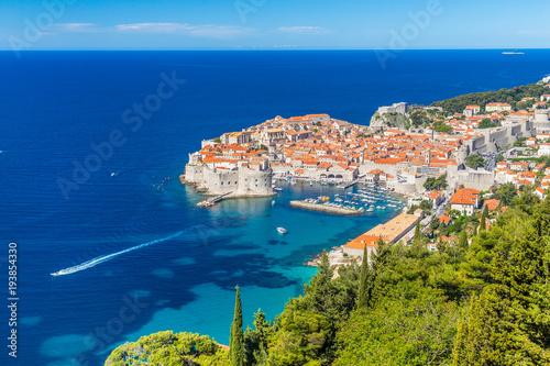 Fotobehang Vestingwerk Old town of Dubrovnik in summer, Dalmatia, Croatia
