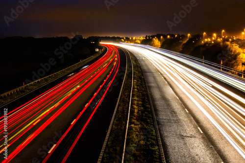 Tuinposter Nacht snelweg highway
