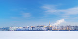 Winter panorama of Neva river, Saint-Petersburg, Russia - 193867145