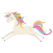 Cute unicorn vector cartoon illustration - 193868377