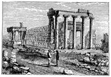 victorian engraving of the Erechtheum, Athens - 193875755