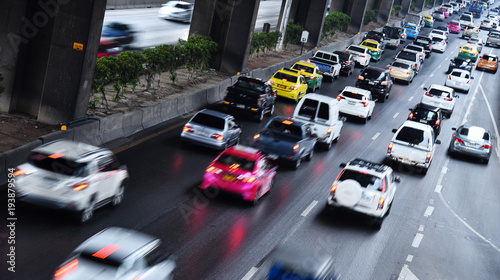 Controlled-access highway in Bangkok during rush hour - 193879594