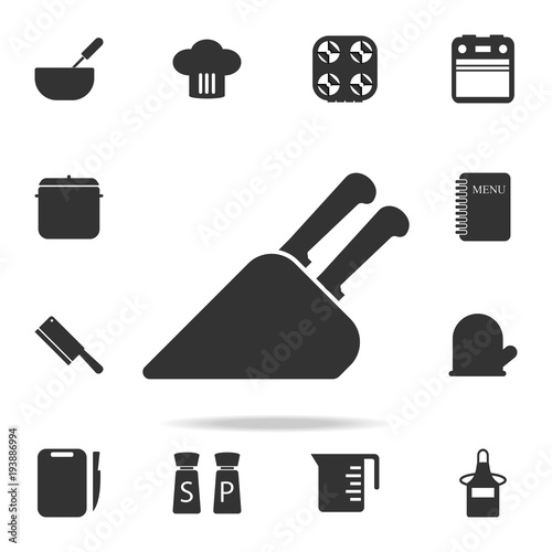 Knife Holder Icon Set Of Chef And Kitchen Element Icons Premium