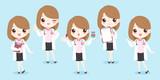 cartoon woman doctor - 193897755