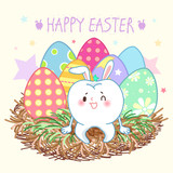 tooth with happy easter - 193899147