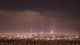 Kuala Lumpur city scape at night.Kuala Lumpur sky line at night and golden hour.