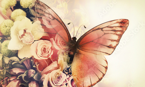 butterfly-with-flowers