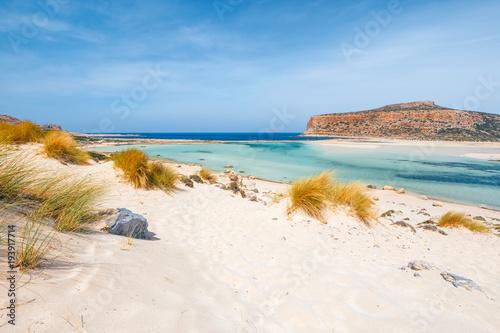 niesamowite dekoracje plaży Balos na Krecie, Grecja